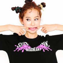 [SUPER DRINK] Poul Paint On Superdrink T-Shirt-Black