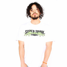 [SUPER DRINK] Poul Paint On Superdrink T-Shirt-White