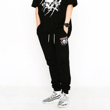 [SUPER DRINK] Miscreant Sweat Jogger Pants-Black