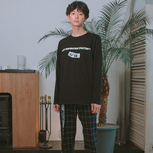 [MIX] Logo long sleeve tee Black