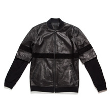 [BLACK SCALE] 30%할인 LEATHER ZIP UP