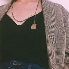 [ASHE CLIFF] TAG CHAIN NECKLACE