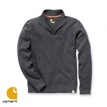 [Carhartt] QUARTER-ZIP KNIT SWEATER (CAHRCOAL)