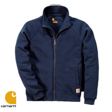 [Carhartt] MIDWEIGHT MOCK NECK ZIP SWEATSHIRT (NAVY)