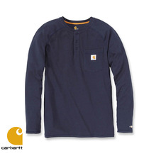 [Carhartt] FORCE COTTON HENLEY L/S (NAVY)