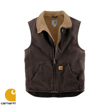 [Carhartt] SANDSTONE MOCK NECK VEST (DARK BROWN)