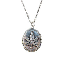 [AGINGCCC]#130 92.5 CANNABIS NECKLACE