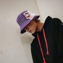 [10%할인][Double adrenaline syndrome]Check buckethat - PURPLE