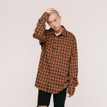 [NEVERCOMMON] oversized tartan check shirt