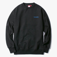 [Have a good time] Side Logo Crewneck - Black