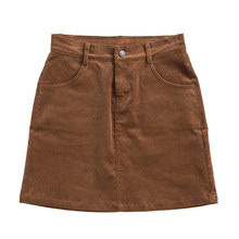 [RUNNINGHIGH] Running High Corduroy Mini Skirt - Brown