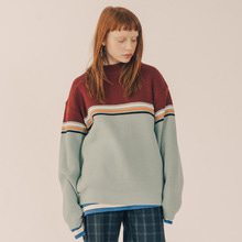 [RUNNINGHIGH] 3 Line Retro Knit - Mint