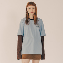 [RUNNINGHIGH] Bohemian Squad Layered Sleeve Cut&sewn - Sky blue