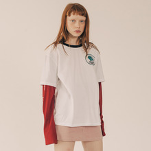 [RUNNINGHIGH] Bohemian Squad Layered Sleeve Cut&sewn - White