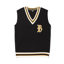 [BC by beyondcloset] [COLLECTION LINE]CLASSIC LOGO KNIT VEST BLACK