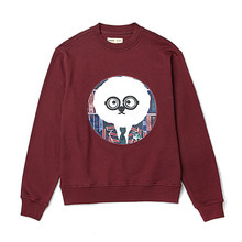 [BC by beyondcloset] DOCTOR DOG PATCH SWEAT-SHIRTS DEEP BURGUNDY