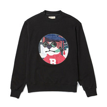 [BC by beyondcloset] SCHOOL DOG PATCH SWEAT-SHIRTS BLACK
