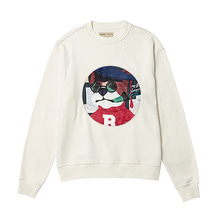 [BC by beyondcloset] SCHOOL DOG PATCH SWEAT-SHIRTS IVORY