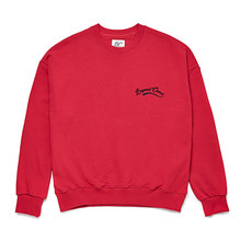 [BC by beyondcloset] NEW BASIC SMALL LOGO SWEAT-SHIRTS DEEP RED