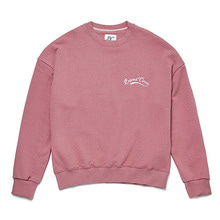 [BC by beyondcloset] NEW BASIC SMALL LOGO SWEAT-SHIRTS ROSE PINK