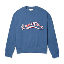 [BC by beyondcloset] NEW LOGO NEEDLEWORK SWEAT-SHIRTS INDIGO BLUE