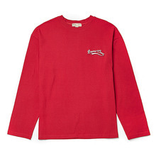 [BC by beyondcloset] NEW SMALL LOGO LONG SLEEVE T-SHIRTS RED