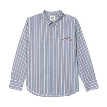[BC by beyondcloset] NEW SMALL LOGO STRIPE SHIRTS SKY BLUE