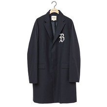 [9/25출고] [BC by beyondcloset] [COLLECTION LINE]LOGO HIDDEN DETAIL CLASSIC SINGLE COAT NAVY