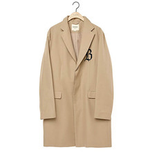 [9/25출고] [BC by beyondcloset] [COLLECTION LINE]LOGO HIDDEN DETAIL CLASSIC SINGLE COAT BEIGE