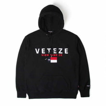 [50%할인][VETEZE] BIG LOGO HOOD - BK