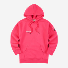 [Andersson bell]UNISEX LAYER EMBROIDERY HOODIE atb161u - MAGENTA