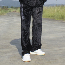 [SBTKOREA] High-end Society Velvet Pants - Black -