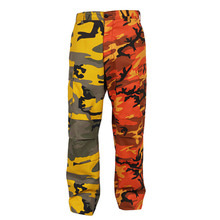[Rothco] Rothco Two-Tone Camo BDU Pants - Yellow/Orange