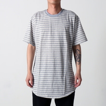 [EPTM] STRIPE 2.0 OG LONG TEE (H GREY/WHITE)