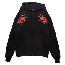 (30%SALE) [Black Hoody]Double Roses Hoodie Black