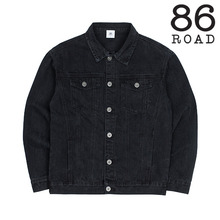 [86로드]2724 Washing denim jacket (Black)