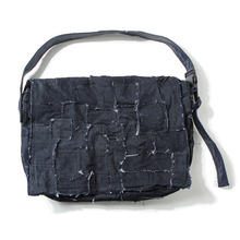 [ORDER MADE][KING] Denim Patchwork Messenger Bag - INDIGO