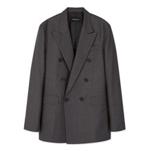 [Andersson bell]UNISEX MAGNUS DOUBLE BREASTED JACKET awa107u - Stripe