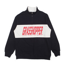 [GRASSHOPPER] Athletic Half Zip - Navy