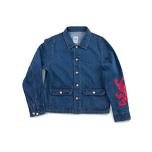 [YESEYESEE]Patched Denim Jacket
