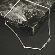[핫듀]stick chain necklace