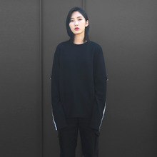 [10%할인][VERDAMT] Reflect Sweatshirt - Black