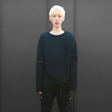 [10%할인][VERDAMT] Incision Sweatshirt - Black