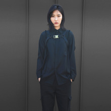 [10%할인][VERDAMT] Raw Cut Shirt - Black