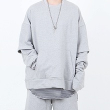 [Nar_Yoke] Overfit Layered Sweatshirt - Gray