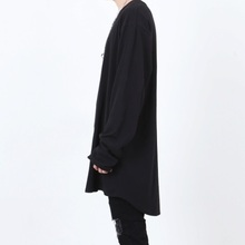 [Nar_Yoke] Layerd Rong Sleeve - Black