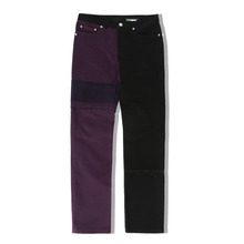 [ORDER MADE][KING]Goatskin Purple & Black Pants-Purple