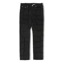 [ORDER MADE][KING]Denim Patchwork Pants - Black
