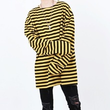 [Nar_Yoke] Super Overfit Rong Sleeve - Black/Yellow