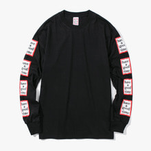 [Have a good time] FW17 Arm Frame L/S Tee - Black